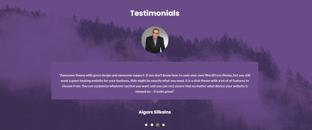 Testimonials on Web by illdy from UIGarage
