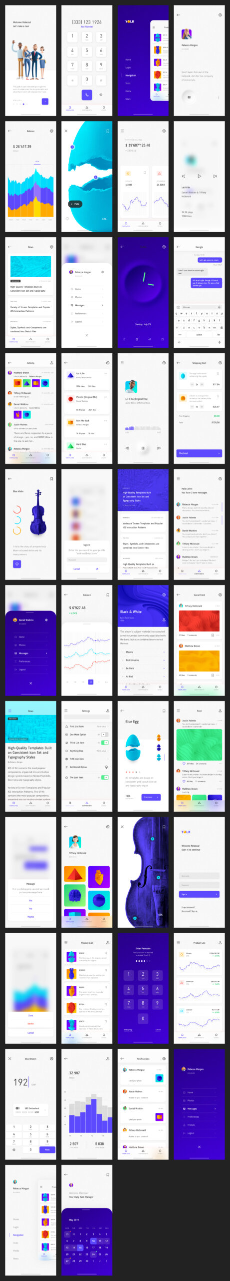 Yolk Free iOS UI Kit Design System for Sketch from UIGarage