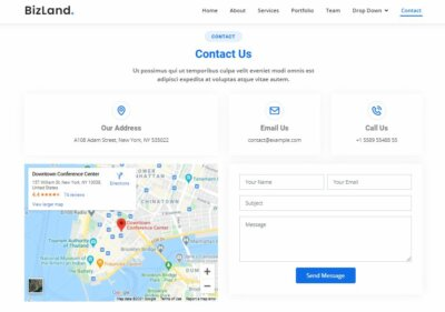 Contact Us on Web by BizLand from UIGarage