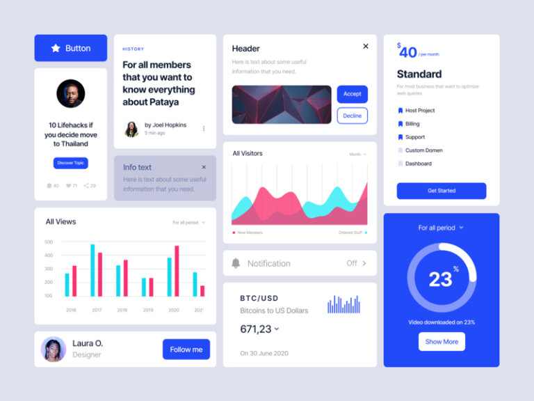 Deca Free UI Kit for Sketch and Figma from UIGarage