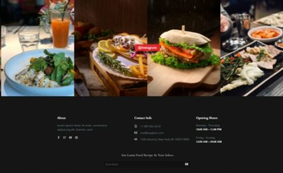 Footer on Web by CafeDine from UIGarage