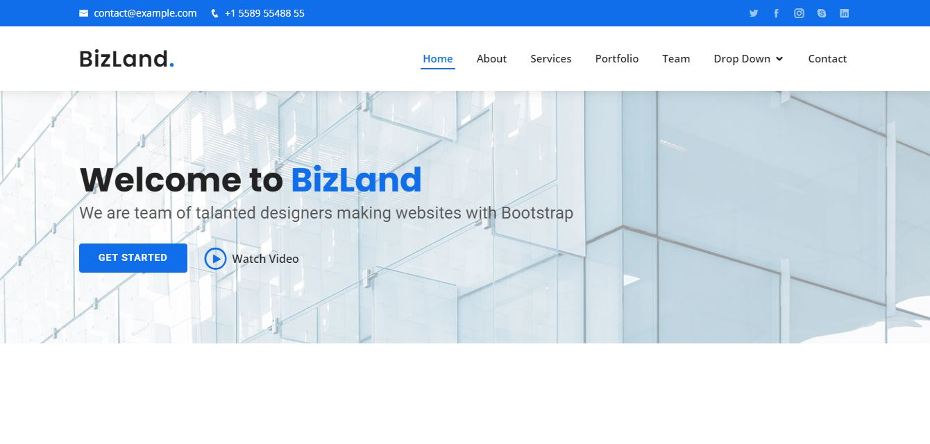 Homepage on Web by BizLand from UIGarage