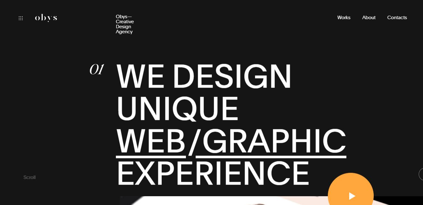 Homepage on Web by Obys.agency from UIGarage
