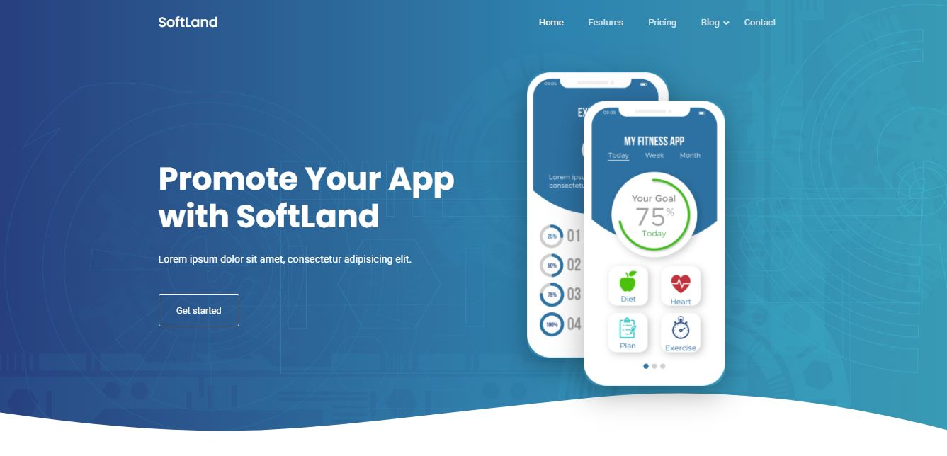 Homepage on Web by Softland from UIGarage