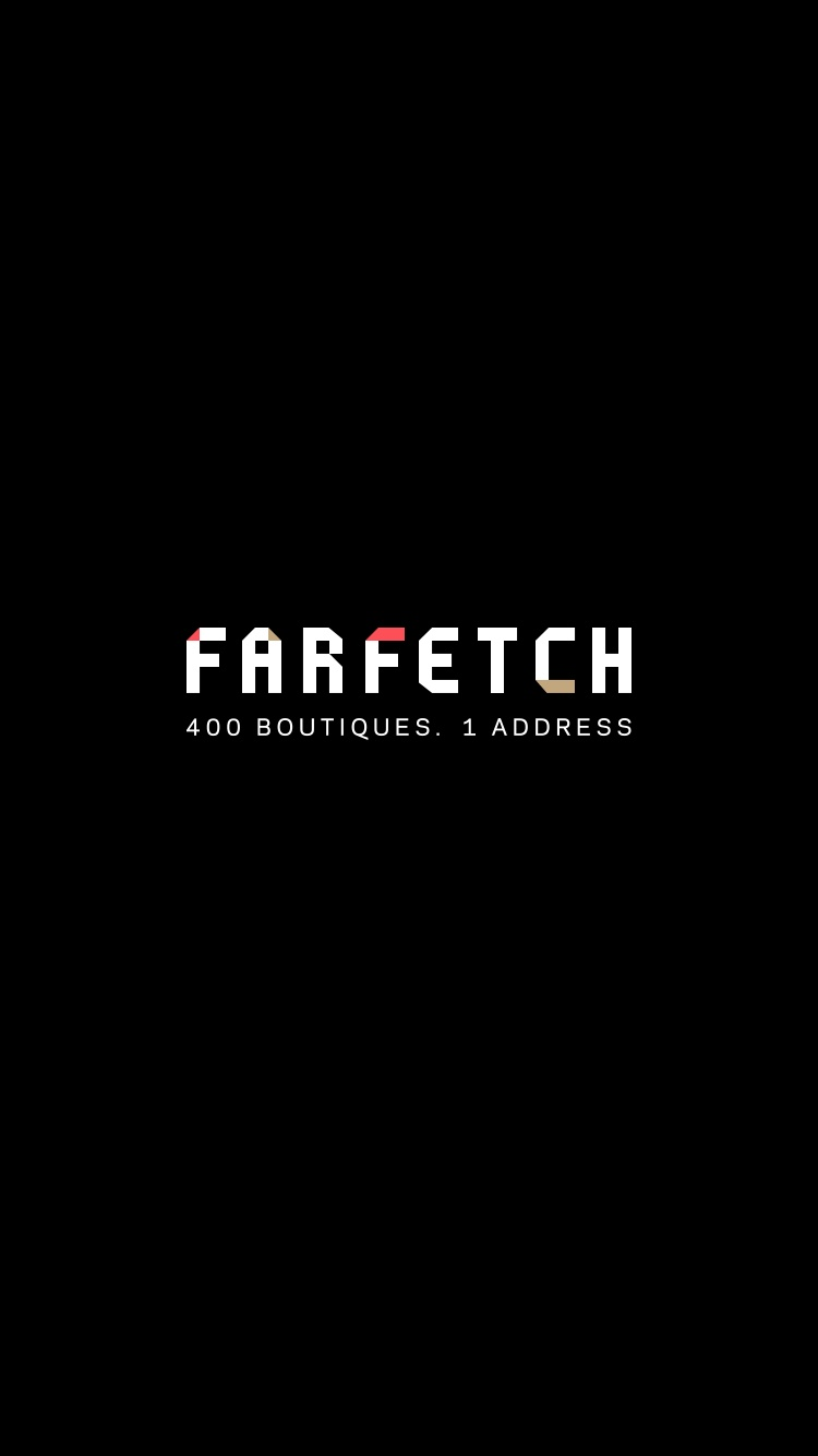 Launch Screen on iOS by Farfetch from UIGarage