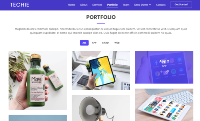 Portfolio on Web by Techie from UIGarage