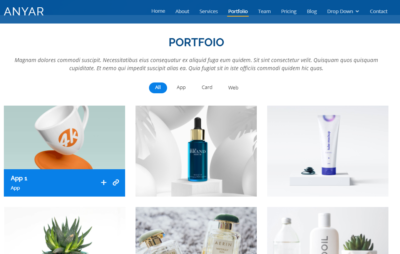 Portfolio on Web by Anyar from UIGarage
