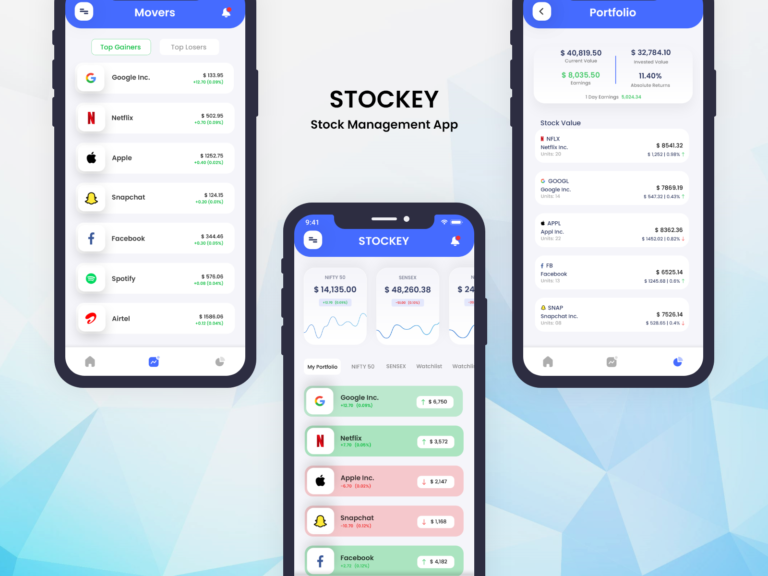 Stock Management App - STOCKEY from UIGarage