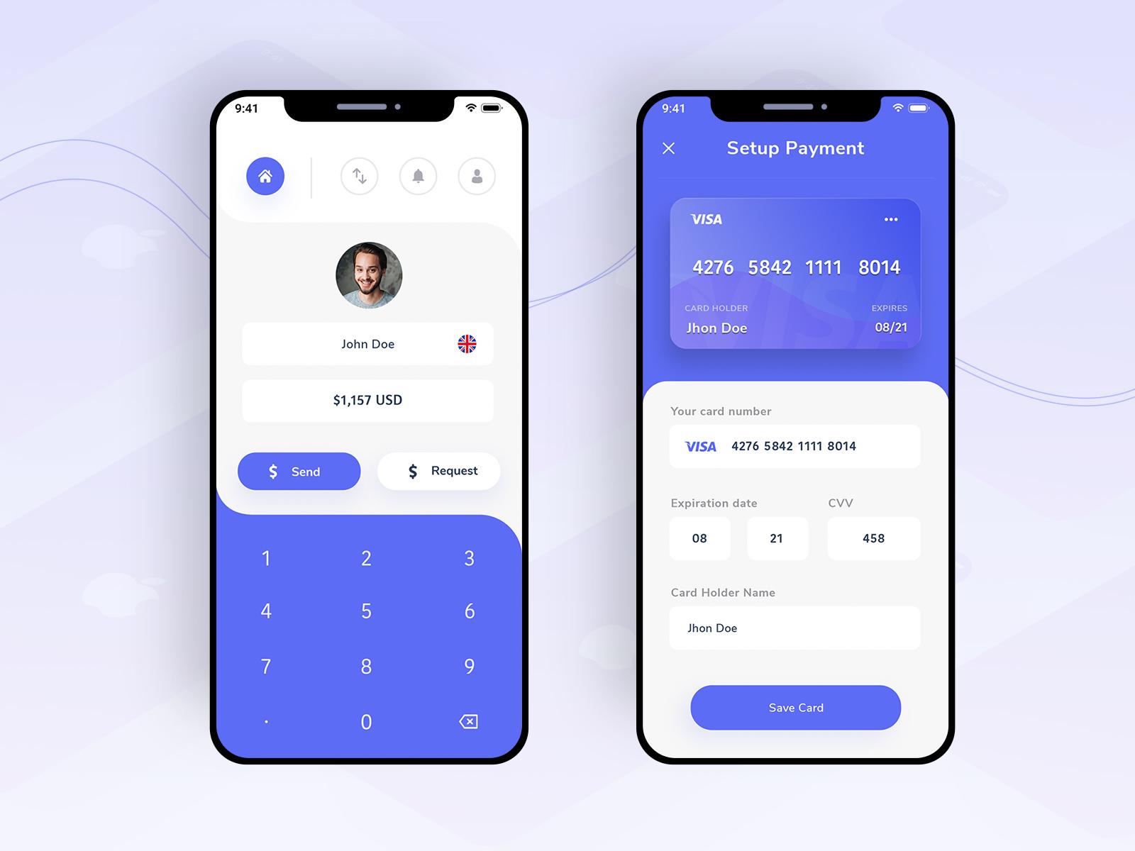 Money Transfer UI from UIGarage