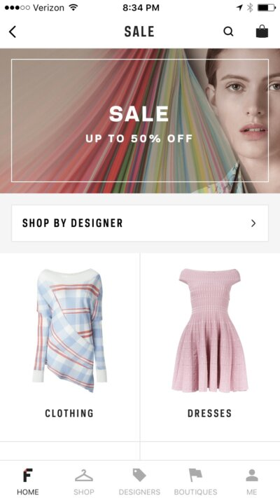 Sale on iOS by Farfetch from UIGarage