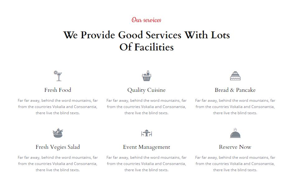 Services on Web by CafeDine from UIGarage