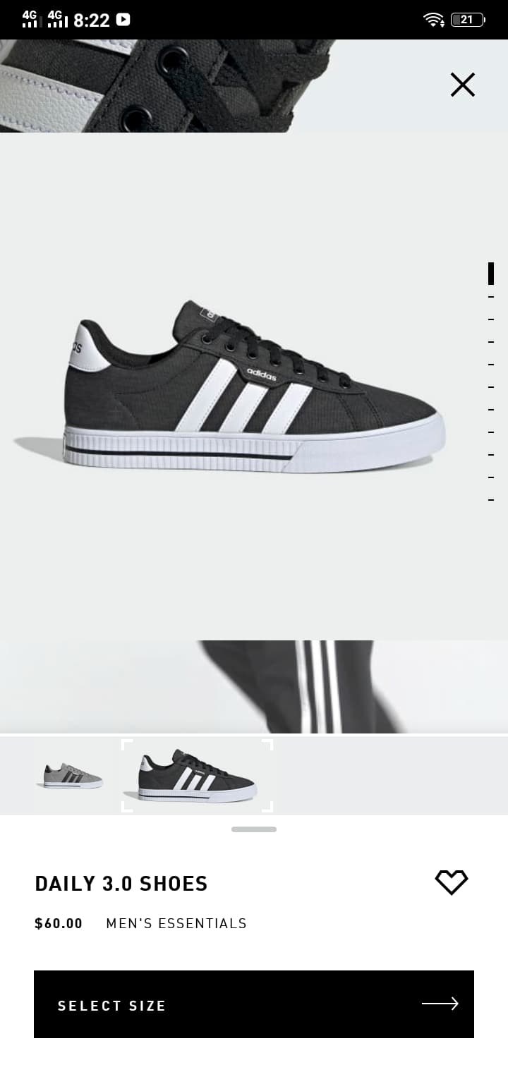Product View on Android by Adidas from UIGarage