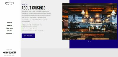About Us on Web by Cuisines from UIGarage