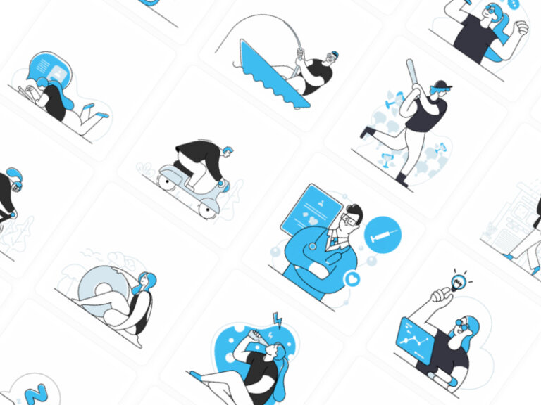 Blues Dual Tone Free Illustrations from UIGarage