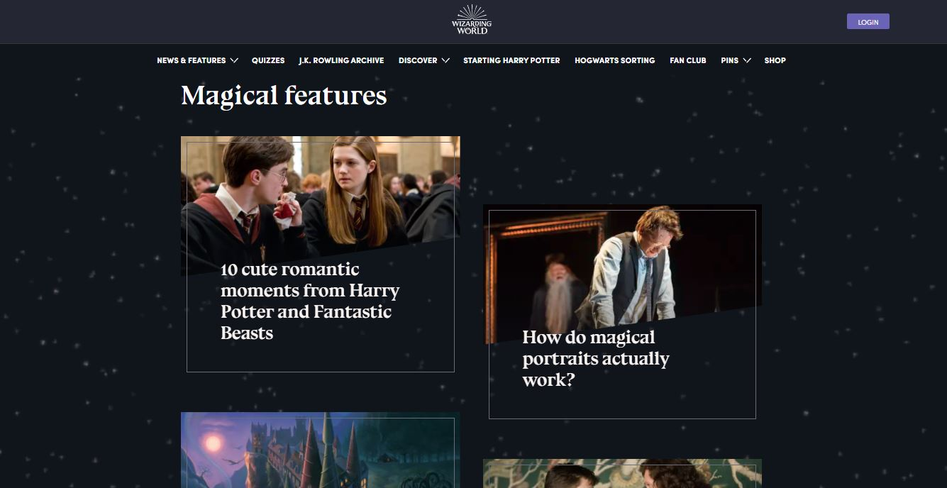 Blogs on Web by WizardingWorld from UIGarage