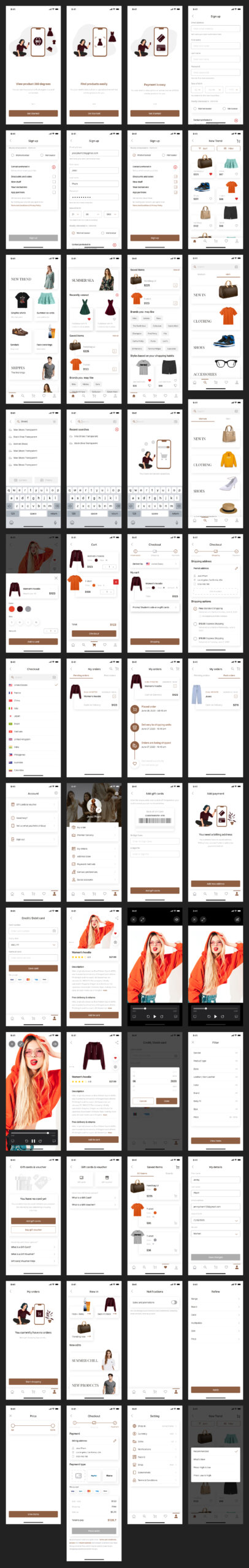 Ebuy Free eCommerce UI Kit for Sketch from UIGarage