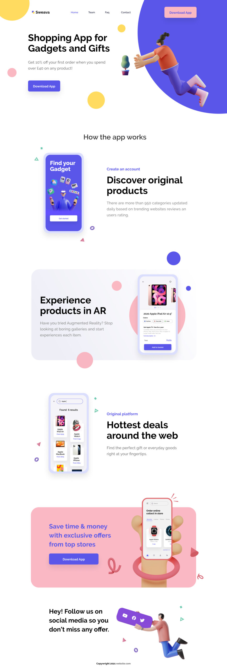 eCommerce Free Landing Page for Figma from UIGarage