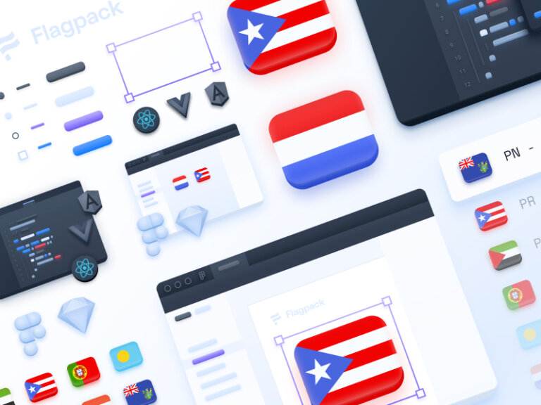 Flagpack Free Icons Pack from UIGarage