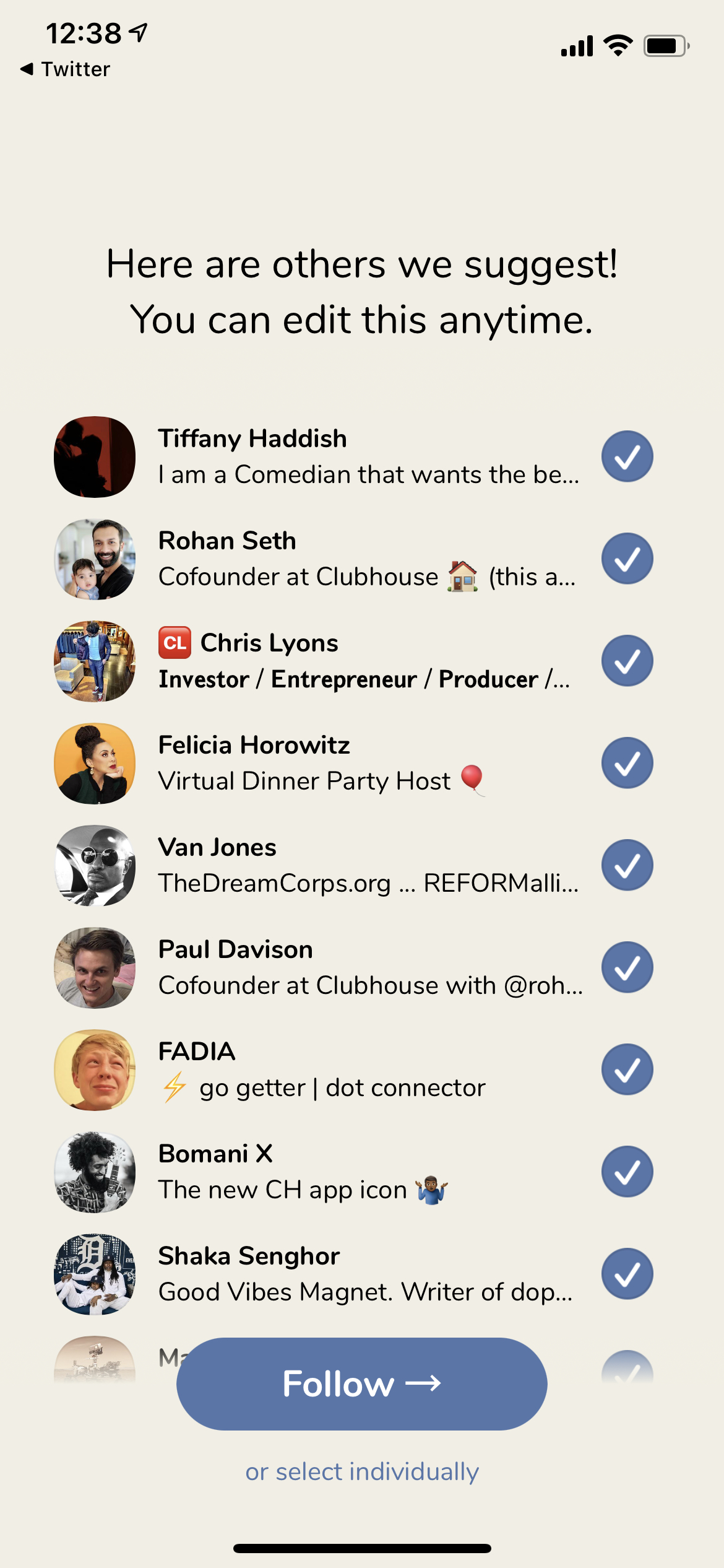 Follow on iOS by Clubhouse from UIGarage