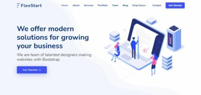 Home page on Web by FlexStart from UIGarage