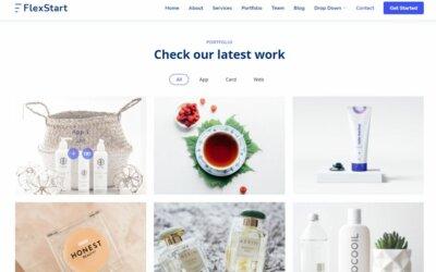 Portfolio on Web by FlexStart from UIGarage