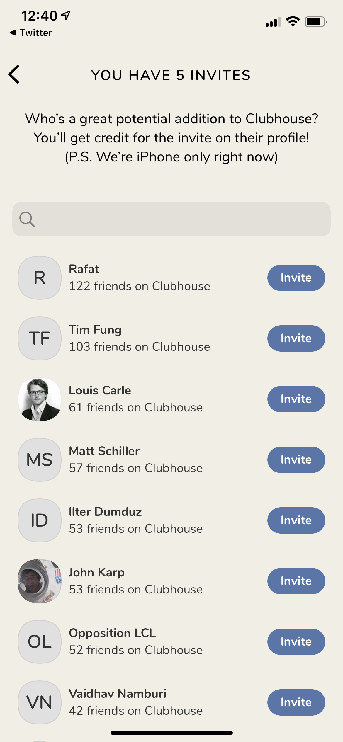 Search on iOS by Clubhouse from UIGarage