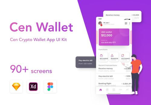 Cen Wallet UI Kit Free from UIGarage