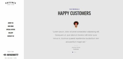 Testimonials on Web by Cuisines from UIGarage