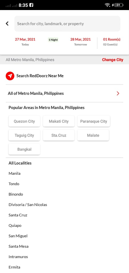 Search Categories on Android by RedDoorz from UIGarage