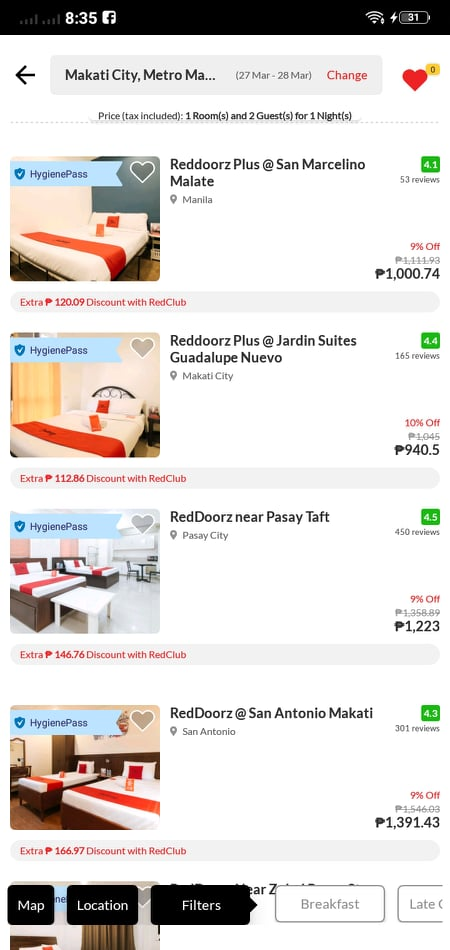 Product List on Android by RedDoorz from UIGarage