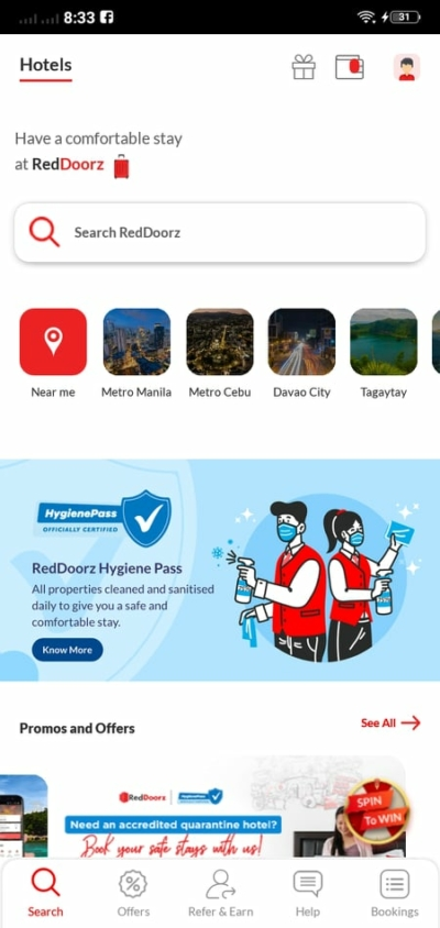 Homepage on Android by RedDoorz from UIGarage
