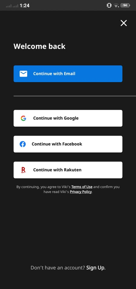 Sign in on Android by Viki from UIGarage