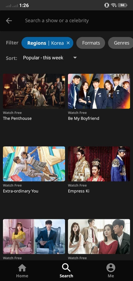Movie List on Android by Viki from UIGarage