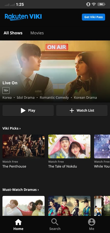 Main page on Android by Viki from UIGarage