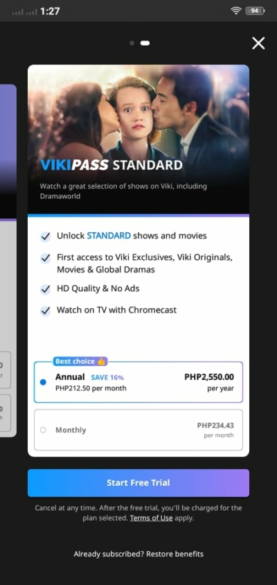 Pricing on Android by Viki from UIGarage