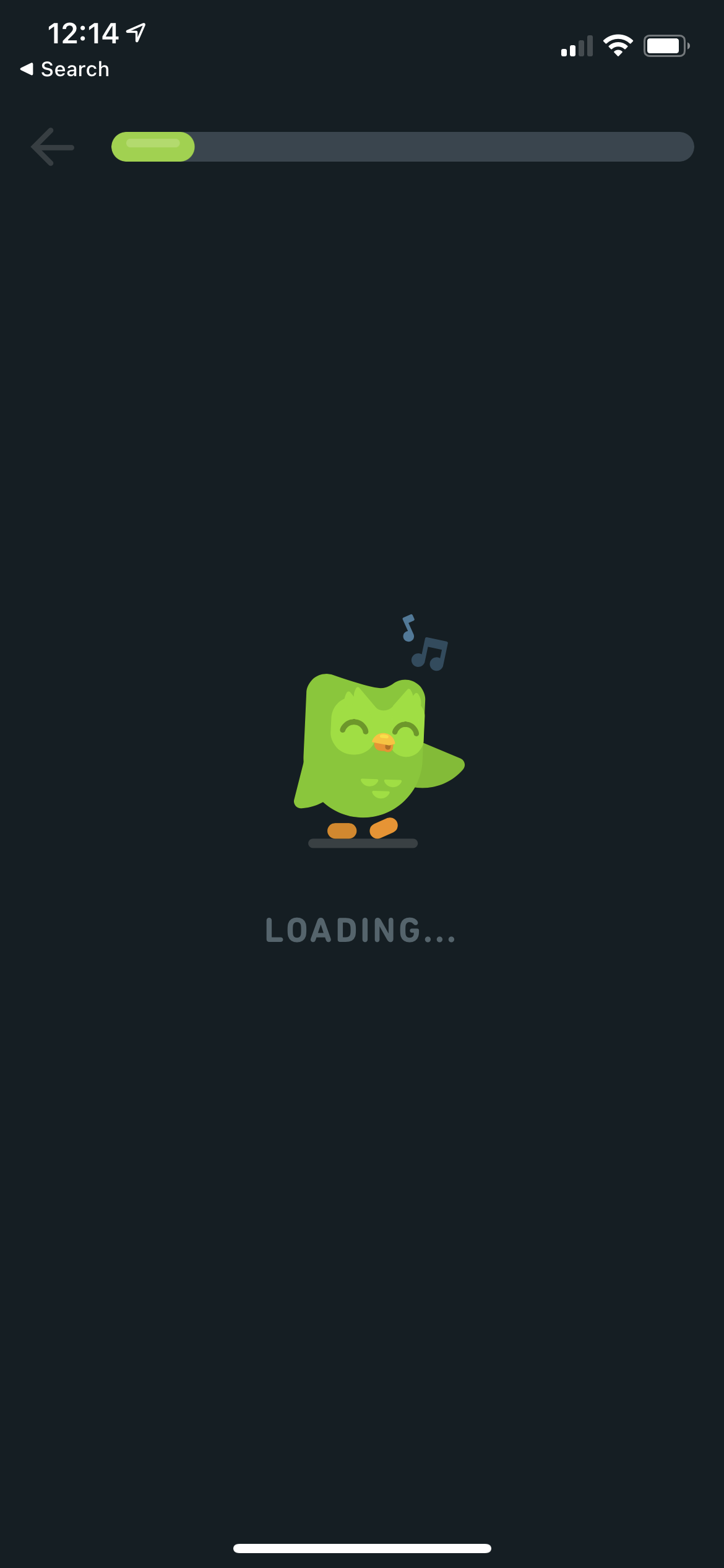 Loading Screen on iOS by Duolingo from UIGarage