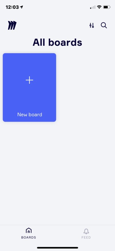 All Boards on iOS by Miro from UIGarage