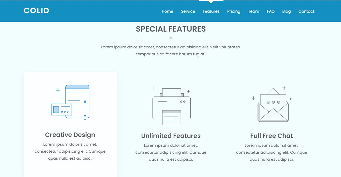 Features on Web by Colid from UIGarage