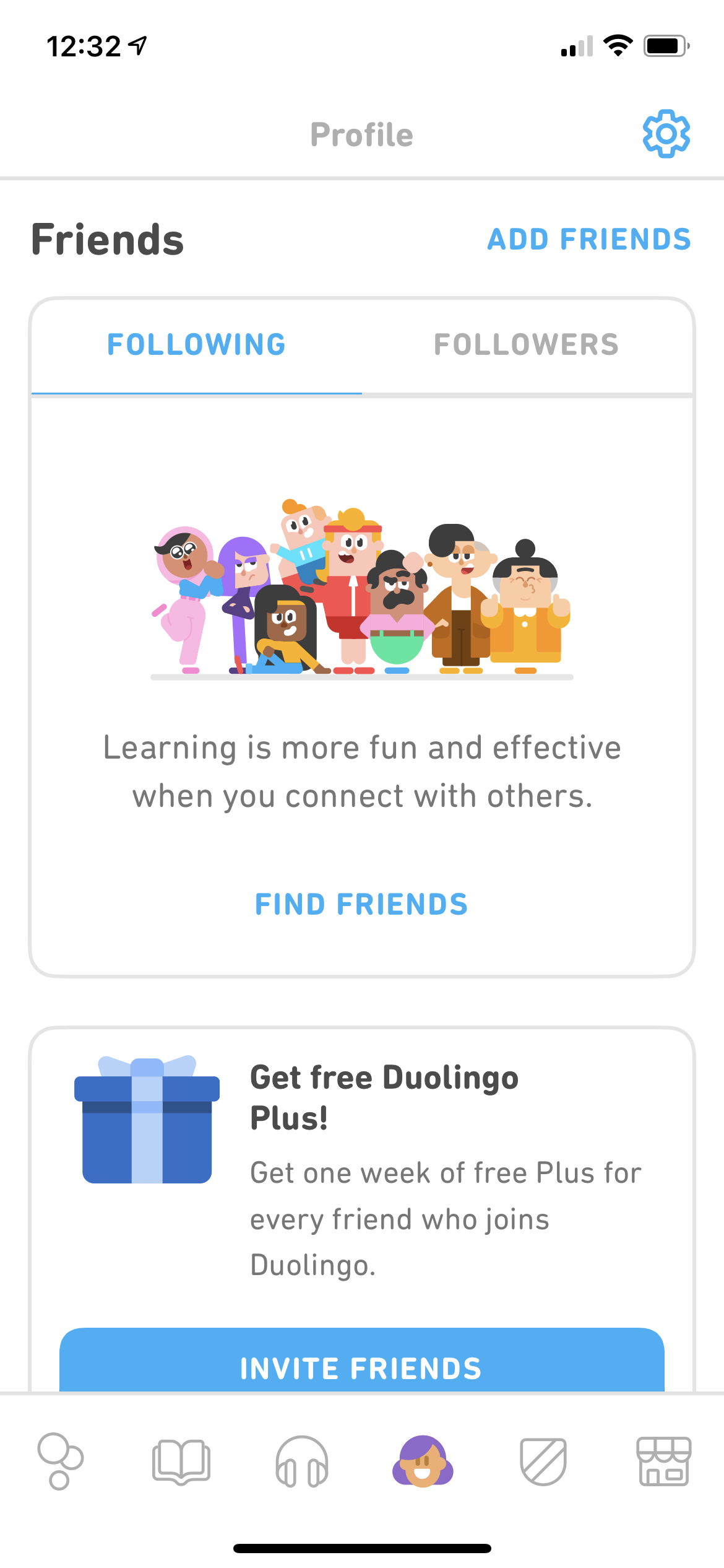 Friends on iOS by Duolingo Plus from UIGarage