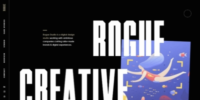 Homepage on Web by Rogue.Studio from UIGarage
