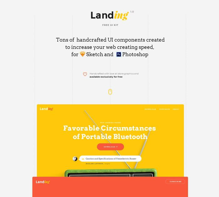UI Kit Landing Page from UIGarage