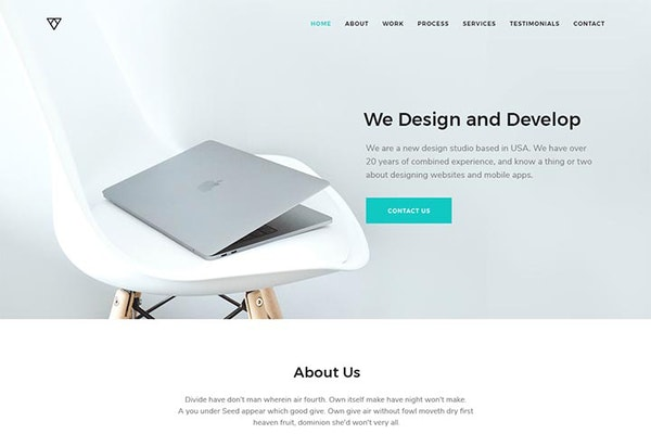 Piroll Free PSD Portfolio Template from UIGarage