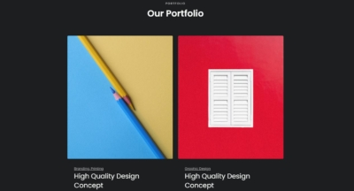 Portfolio on Web by Oraxol from UIGarage
