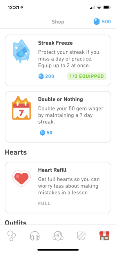 Shop on iOS by Duolingo Plus from UIGarage