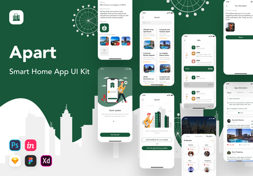 Apart - Smart Home UI Kit Figma from UIGarage