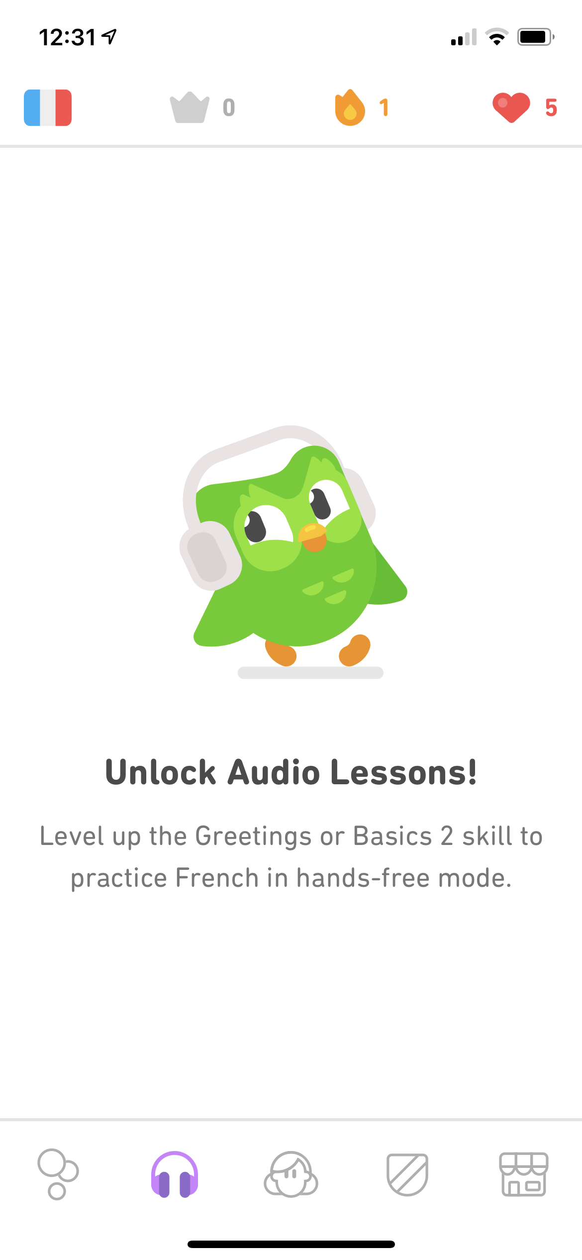 Unlock on iOS by Duolingo Plus from UIGarage