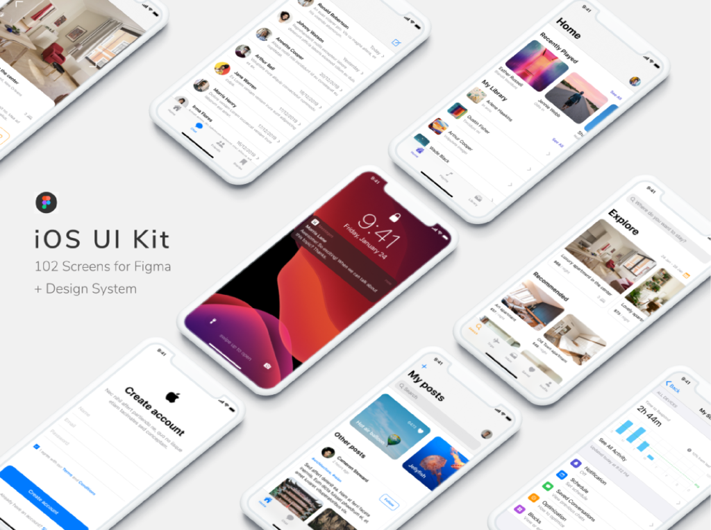 Figma iOS UI Kit (Free) from UIGarage