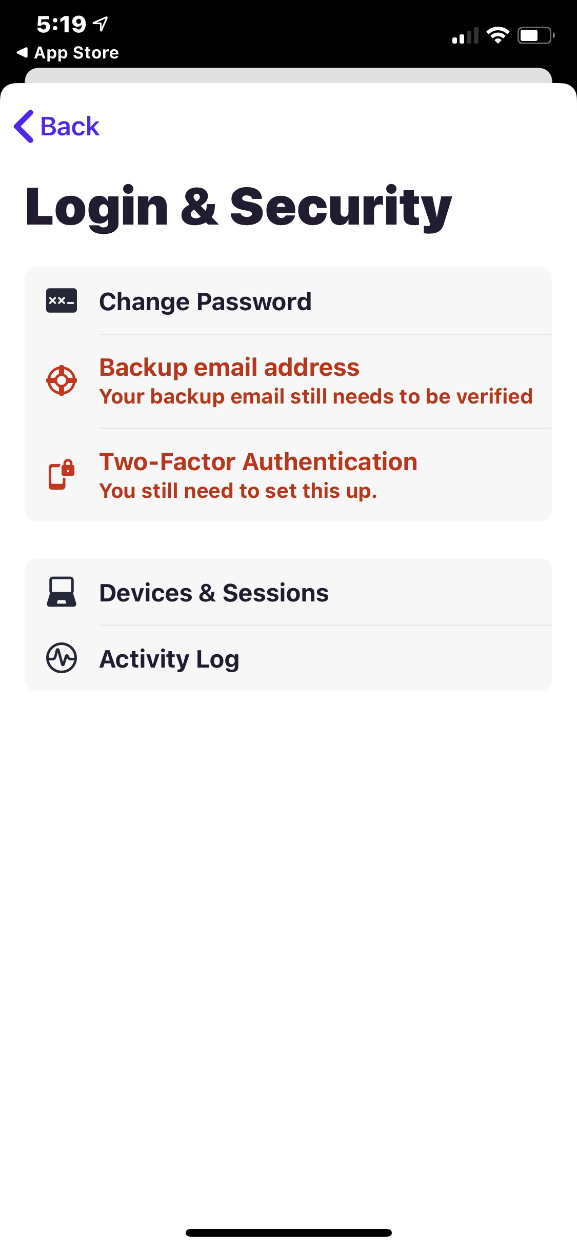 Login and Security on iOS by Hey Email from UIGarage