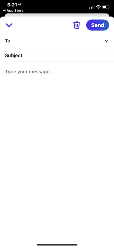 Create Message on iOS by Hey Email from UIGarage
