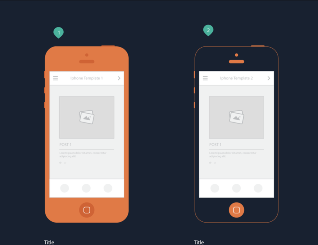Iphone templates for mobile storyboard from UIGarage